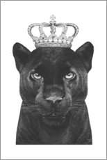 Gallery Print  The King panther - Valeriya Korenkova