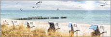Gallery Print  Strandtag an der Ostsee - Art Couture