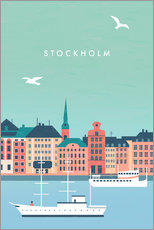 Wandsticker  Stockholm Illustration - Katinka Reinke