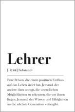 Leinwandbild  Lehrer Definition - Johanna von Pulse of Art