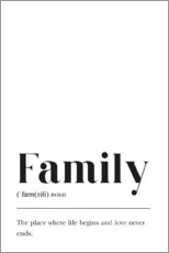 Wandsticker  Family Definition (Englisch) - Johanna von Pulse of Art
