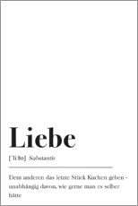 Poster  Liebe Definition - Johanna von Pulse of Art