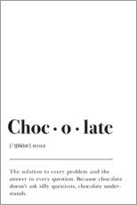 Gallery Print  Chocolate Definition (Englisch) - Pulse of Art
