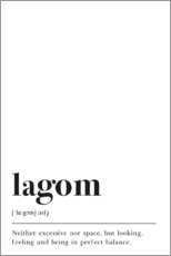 Acrylglasbild  Lagom Definition (Englisch) - Pulse of Art