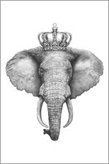 Acrylglasbild  The Elephant King - Valeriya Korenkova