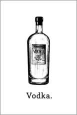 Poster  Vodka Flasche - Typobox