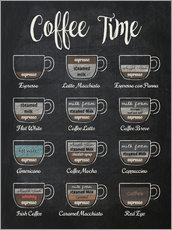 Alubild  Coffee Time (Englisch) - Typobox