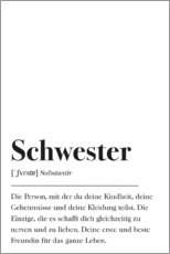 Premium-Poster  Schwester Definition - Pulse of Art