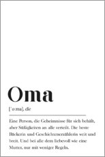Premium-Poster  Oma Definition - Pulse of Art