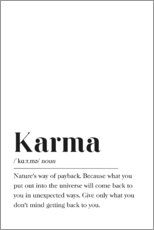 Premium-Poster  Karma Definition (Englisch) - Pulse of Art
