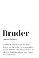 Wandsticker  Bruder Definition - Pulse of Art