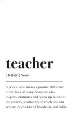 Wandsticker  Teacher Definition (Englisch) - Pulse of Art