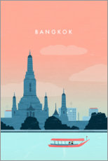 Premium-Poster Bangkok Illustration