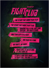 Premium-Poster Fight Club Regeln