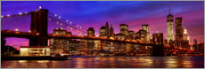Holzbild  Brooklyn bridge - Art Couture