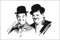 Alu-Dibond  Laurel und Hardy - tom