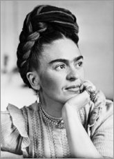 Leinwandbild  Thoughtful Frida Kahlo - Celebrity Collection