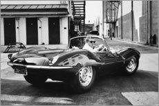 Acrylglasbild  Steve McQueen im Jaguar - Celebrity Collection