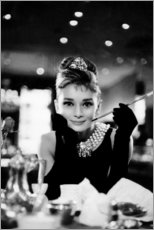 Holzbild  Audrey Hepburn in Breakfast atTiffany's - Celebrity Collection