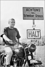 Premium-Poster  Steve McQueen in Gesprengte Ketten - Celebrity Collection