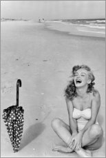 Acrylglasbild  Marilyn Monroe am Strand - Celebrity Collection