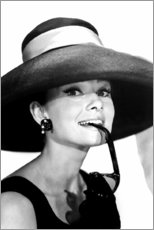 Holzbild  Audrey Hepburn im Sommeroutfit - Celebrity Collection