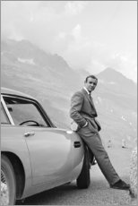 Holzbild  Sean Connery als James Bond - Celebrity Collection