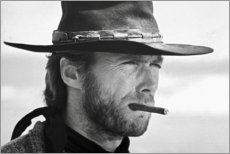 Holzbild  Clint Eastwood in Zwei glorreiche Halunken - Celebrity Collection