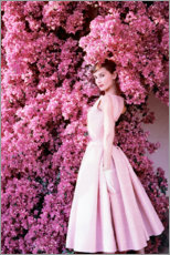 Acrylglasbild  Audrey Hepburn im Abendkleid - Celebrity Collection