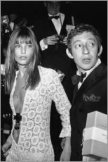 Holzbild  Jane Birkin und Serge Gainsbourg - Celebrity Collection