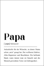 Leinwandbild  Papa Definition - Pulse of Art