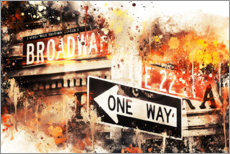 Acrylglasbild  NYC Broadway One Way - Philippe HUGONNARD