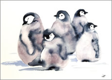 Poster Pinguin-Krippe