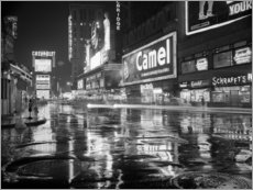 Acrylglasbild  Regen auf dem Times Square in New York