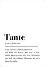 Gallery Print  Tante Definition - Pulse of Art