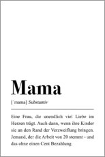 Leinwandbild  Mama Definition - Pulse of Art