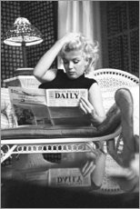 Holzbild  Marilyn Monroe ? Zeitung lesend - Celebrity Collection