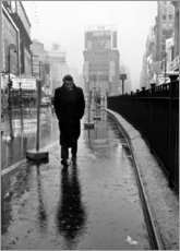 Holzbild  James Dean am Times Square - Celebrity Collection
