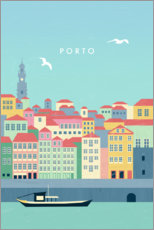 Hartschaumbild  Porto Illustration - Katinka Reinke