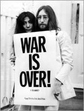 Holzbild  Yoko & John - War is over!