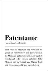 Premium-Poster  Patentante Definition (Deutsch) - Pulse of Art