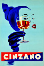 Holzbild  Cinzano - Prost - Advertising Collection