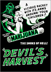 Holzbild  Devils Harvest - Advertising Collection