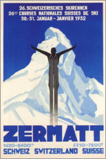 Holzbild  Zermatt - Travel Collection