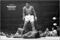 Hartschaumbild  Boxlegende Mohammed Ali - Celebrity Collection