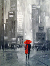 Premium-Poster  Spaziergang in New York - Olha Darchuk