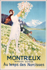 Acrylglasbild  Montreux (französisch) - Travel Collection