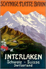 Holzbild  Interlaken - Travel Collection
