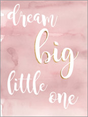Wandsticker  Dream big little one (Rosa) - Studio W