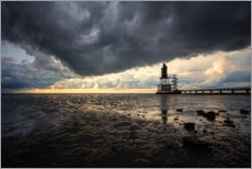 Premium-Poster Nordsee bei Ebbe